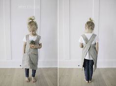 Cross back pinafore apron sewing pattern (adult and child)