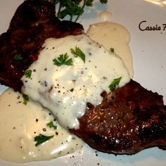 Steak With Creamy Garlic Parmesan Sauce #recipe | Justapinch.com