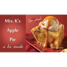 Mrs. K's Apple Pie Al-a-Mode Fresh from her oven to your e-cig!  #ejuice #vapejuice #canadianvapers #MacVapes