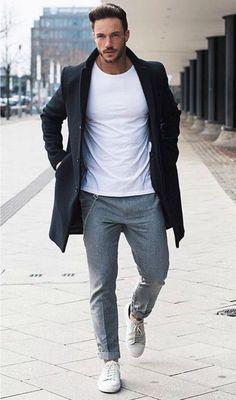 The best coats for autumn/ winter 16 men's fashion mode heren, mannenm Casual Mode, Men Casual, Man Style Casual, Casual Wear, Mens Smart Casual Fashion, Smart Casual Man, Elegant Casual Men, Smart Casual Menswear, Look Casual