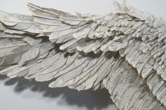 Wings made from book pages by Susan Hannon: