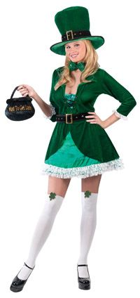 Adult Luscious Leprechaun Costume - St. Patricks Day will never be the same!
