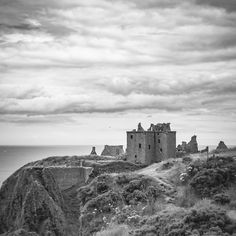 Dunnottar Castle  is a ruined medieval castle on the north-east coast of Scotland, south of Stonehaven.