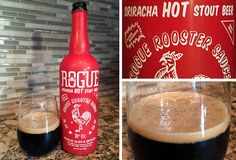 Our review of Rogue Sriracha Hot Stout Beer. American stout brewed with Huy Fong Sriracha Hot Chili Sauce by Rogue Ales.