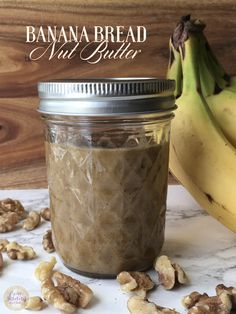 A spreadable version of my favorite baked good. Banana Bread Muffins, Cooking Recipes, Healthy Recipes, Healthy Eating, Healthy Food, Nut Butter, Soul Food, Baked Goods, Sweet Tooth