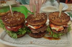 One Tea Lounge is famous for its Ramen Burger. However, the other dishes on the menu are also worth trying. especially their Matcha Fondue! Tea Lounge, Matcha, Allrecipes, I Foods, Fondue, Ramen, Hamburger, Dishes, Ethnic Recipes