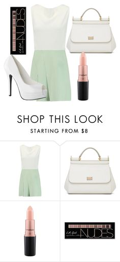 """""""Wedding guest 4"""" by meggieb7 on Polyvore featuring Roland Mouret, Dolce&Gabbana, MAC Cosmetics and Charlotte Russe"""