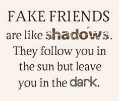 you know who your real friends are