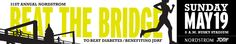 31st Annual Nordstrom Beat the Bridge to Beat Diabetes - JDRF 8K run is Sunday, May 19. I'm on the PEMCO team again this  year.