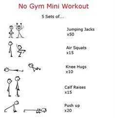 No Gym Mini Workout