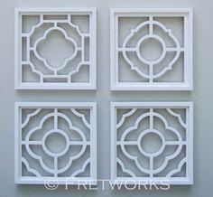 Set of 4 Quatrefoil Panels