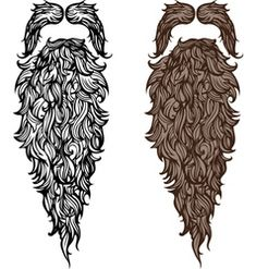 Beard And Mustache Vector Images Pictures Clipart Bearded Lady