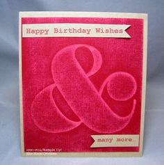 February 05, 2014 Stamping With Blue Moon Creations: Distressed Ampersand