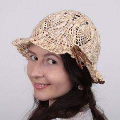 $20.00 cotton hat for teens / sun hat for travels / cloche beige hat #hat #cotton #sun_hat #cloche