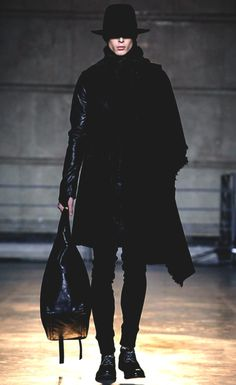 Boris Bidjan Saberi F/W14 menswear... black never looked so good!