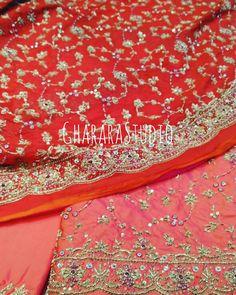 5e7c43e608 Silk Gharara with zardozi handwork embroidery all over Gharara and Dupatta.  WhatsApp at +919971865919