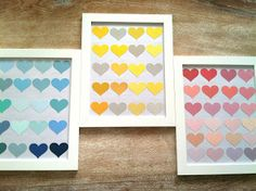 Delicious Spaces: DIY: Paint Swatches for Valentines Day Gifts