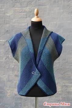 Hanne Falkenberg handknit vest – knitting vest – Knitting for Beginners Knitting Designs, Knitting Stitches, Free Knitting, Baby Knitting, Knitting Patterns, Diy Crafts Knitting, Diy Crafts Crochet, Pull Crochet, Knit Crochet