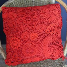 Russian Crochet 1st Pillow Cover, Hyke Van Demeer