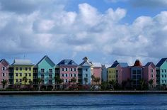 The colorful houses of Nassau, Bahamas
