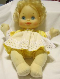 """Yellow Gingham 1/4"""" Check Dress set, fits My Child dolls and11"""" Preemie CP dolls #KindredHeartsDesigns"""