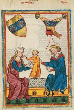 Manesse Codex -  (1300 -  1340) Von Wissenlo