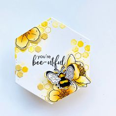 Hexagon Cards, Sunflower Cards, Bee Cards, Hero Arts, Cool Cards, Geometric Shapes, Really Cool Stuff, Birthday Cards, Card Making