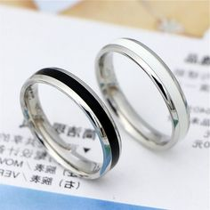 Promise rings for couples,his and her promise rings,couple ring set,pinky promise rings Boyfriend Promise Ring, Pinky Promise Ring, Matching Promise Rings, Matching Couple Rings, Silver Promise Rings, Promise Rings For Couples, Rings For Boys, Matching Jewelry For Couples, Boyfriends