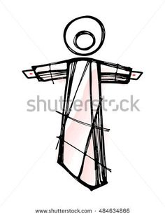 Hand drawn vector illustration or drawing of Jesus Christ Resurrection - buy this stock vector on Shutterstock & find other images. Christian Drawings, Christian Art, Jesus Art, Jesus Christ, Jesus Drawings, Easter Drawings, Jesus Pictures, Chalk Art, Doodle Art