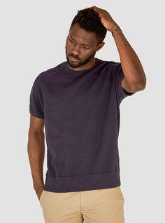 Todd Snyder x Champion Short Sleeve Sweatshirt Navy Original
