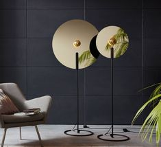 Wever&Ducré, a Belgian publishing house, presents Mirro the design floor lamp created by design. design considers that the human being is a. Luminaire Design, Lamp Design, Floor Lamp Makeover, Gold Floor Lamp, Floor Lamps, Luminaire Original, Shabby Chic Lamps, Perriand, Golden Design