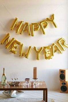 "Ballons lettres ""Happy new year"""