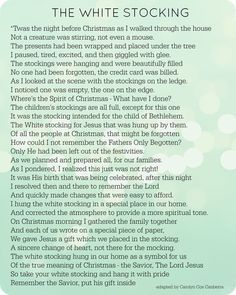 The White Stocking Poem- A Meaningful Christmas Eve Tradition diy christmas gifts, christmas gifts bestfriend, creative christmas gifts for bestfriend Merry Christmas, Christmas Poems, A Christmas Story, Christmas Holidays, Christmas Gifts, Christmas Prayer, Vintage Christmas, Father Christmas, Christmas 2019