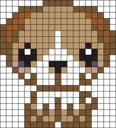 Puppy 3 Perler Bead Pattern / Bead Sprite