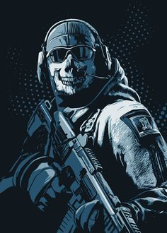 call of duty warzone ghost wallpaper