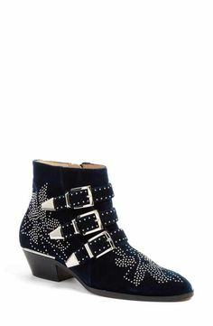 check out 16ab0 1d677 Chloé Susan Studded Buckle Boot (Women) Buckle Boots, Shoe Collection,