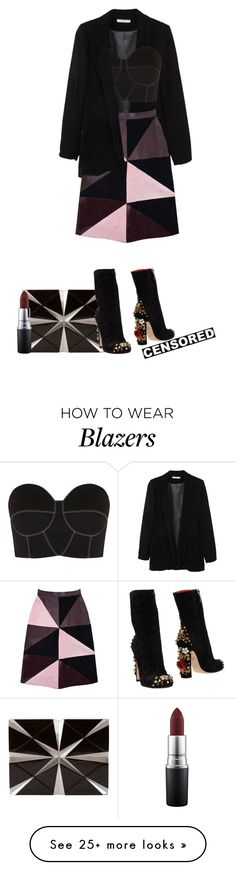 """""""Imagine This."""" by vii-xxiv on Polyvore featuring MANGO, Florence Bridge, Nathalie Trad, Paper London, Dolce&Gabbana and MAC Cosmetics"""