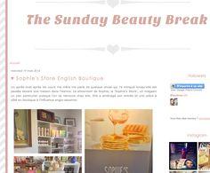 The Sunday Beauty Break de Malory - March 2014 http://thesundaybeautybreak.blogspot.fr/2014/03/sophies-store-english-boutique.html