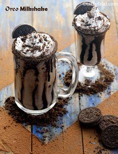 oreo milkshake recipe | Indian oreo smoothie | oreo biscuit milkshake | Oreo Smoothie, Oreo Milkshake, Milkshake Recipes, Smoothies, Oreo Shake, Dessert Drinks, Desserts, Oreo Dessert, Breakfast