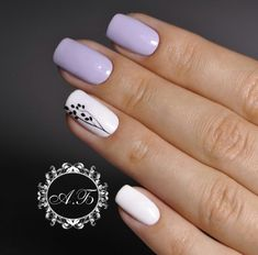 Cute fashion nails Cute nails Delicate spring nails Light purple nails Nails ideas with flowers Nails trends 2018 Painted nail designs Spring nails 2018 Pretty Nail Designs, Best Nail Art Designs, Colorful Nail Designs, Nail Designs Spring, Accent Nail Designs, Latest Nail Designs, Simple Nail Designs, White Nail Polish, White Nails
