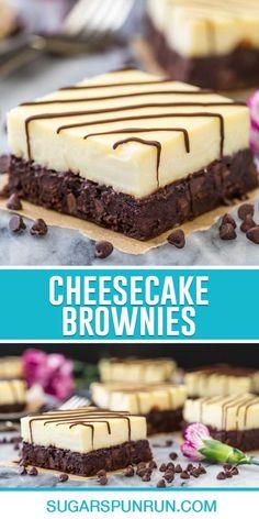 Brownie Cheesecake, Homemade Cheesecake, Brownie Recipes, Cheesecake Recipes, Cookie Recipes, Dessert Recipes, Bar Recipes, Oreo Dessert, Dessert Bread