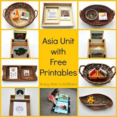 Montessori-inspired Asia learning activities and free printables for kids.