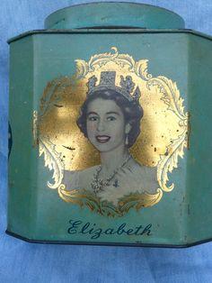Queen Elizabeth 11 Coronation Octagonal Bushells by Groovyreruns, $38.00