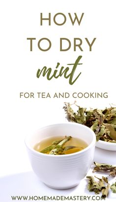 How to dry mint for tea and cooking! Drying your own mint leaves in the oven, or airdrying is easy and will provide you with high-quality dried mint leaves! Herb Drying Racks, Drying Herbs, Butter Tart Squares, Drying Mint Leaves, Growing Mint, Medicinal Herbs, Tea Recipes, Healthy Drinks, Herbalism