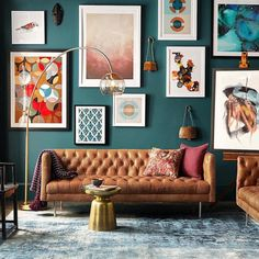 Creative Living Room Wall Gallery Design Ideas - Page 25 of 47 Decor, House Design, Room Design, Eclectic Home, Home Decor, House Interior, Living Room Wall, Interior Design, Living Decor