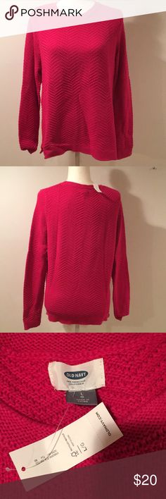 NWT pink sweater from Old Navy sz L NWT pink sweater from Old Navy sz L From a smoke free home. Old Navy Sweaters