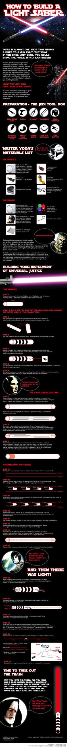 How to build your own lightsaber…