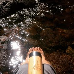 I #love #myvesica tea infuser. Keeps me company everyday. It's super #watertight ...#coffeetight ☕️ keeps my drink hot or cold for ages and never spills in my bag or back pocket. On a quick break from my #eco #vesica at #wanderlust #thredbo chilly my #toes in the #chilly mountain #river ⛰ #lovemyjob #water #reduceplastic #sustainable #ecofriendly #bamboo #stainlesssteel