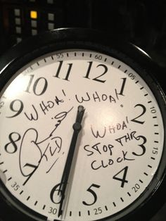 Woah Woah Woah STOP THE CLOCK!