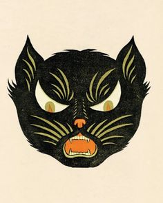 """See the """"The Black Cat and Her Kittens"""" in our Halloween Games gallery"""
